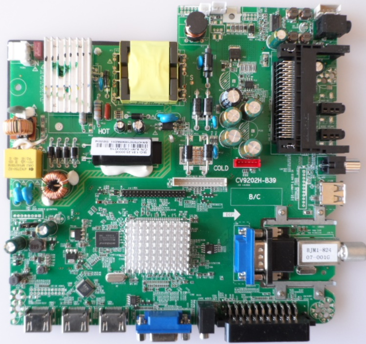 MB/CV9202H-B39/32INC/JTC MAIN BOARD ,CV9202H-B39  for ,JTC DVB73203,J2032C,