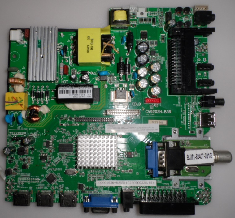 MB/CV9202H-B39/40INC/JTC MAIN BOARD ,CV9202H-B39 , for ,JTC DVB-140010,J2040C,