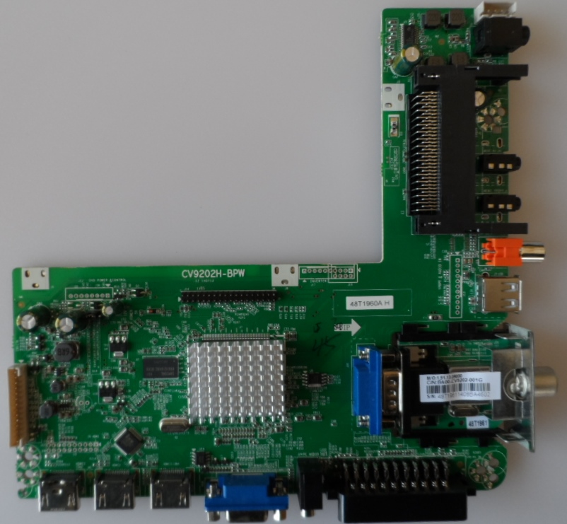 MB/CV9202H-BPW/50INC/JTC MAIN BOARD ,CV9202H-BPW , for ,JTC DVB-75003,J3050C,