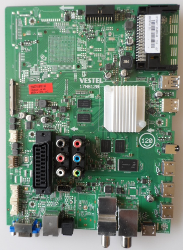 17MB120/43INC/TOSHIBA MAIN BOARD, 17MB120, for 43 inc DISPLAY UHD 4K,10109917,23438044,28019746,04031R2A,