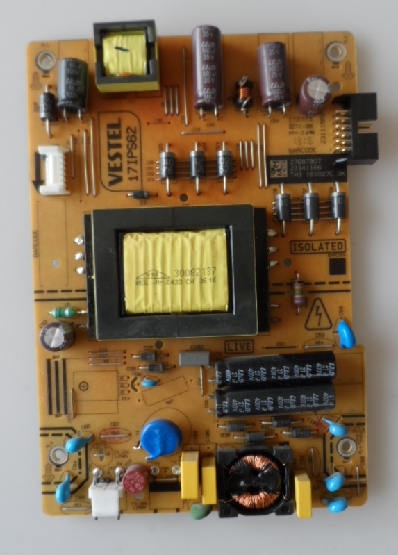 17IPS62/32INC/JVC/5 POWER BOARD ,17IPS62, for 32 inc DISPLAY ,27687807,23341166,231115R2,