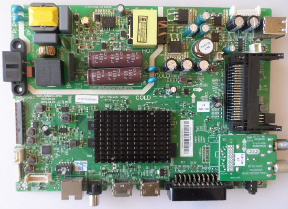 MB/5823-A6/SKYWO/32E2000 MAIN BOARD 5823-A6N83G-0P00  for SKYWORTH 32E2000S
