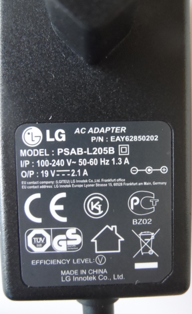 ADAP/LG/19V/2.1A/1 ADAPTER ORIGINAL model PSAB-L205B EAY62850202  for LG 19V 2.1A