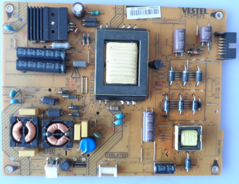 17IPS71/32INC/VES/JVC POWER BOARD ,17IPS71, for 32inc DISPLAY ,190814R4,23220944,27438762,