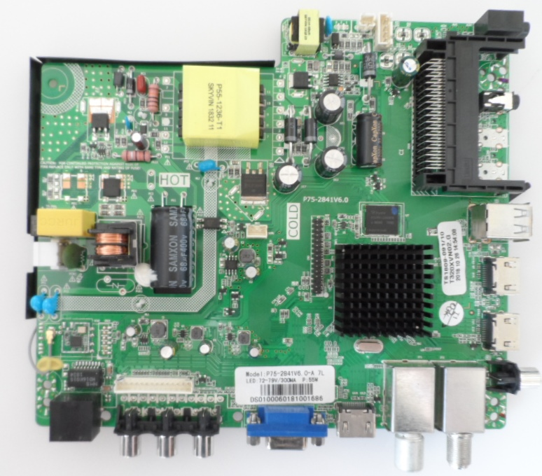 MB/P75-2841V6.0/ST.LAIGH/32DM6500 MAIN BOARD ,P75-2841V6.0, for STARLIGHT 32DM6500,