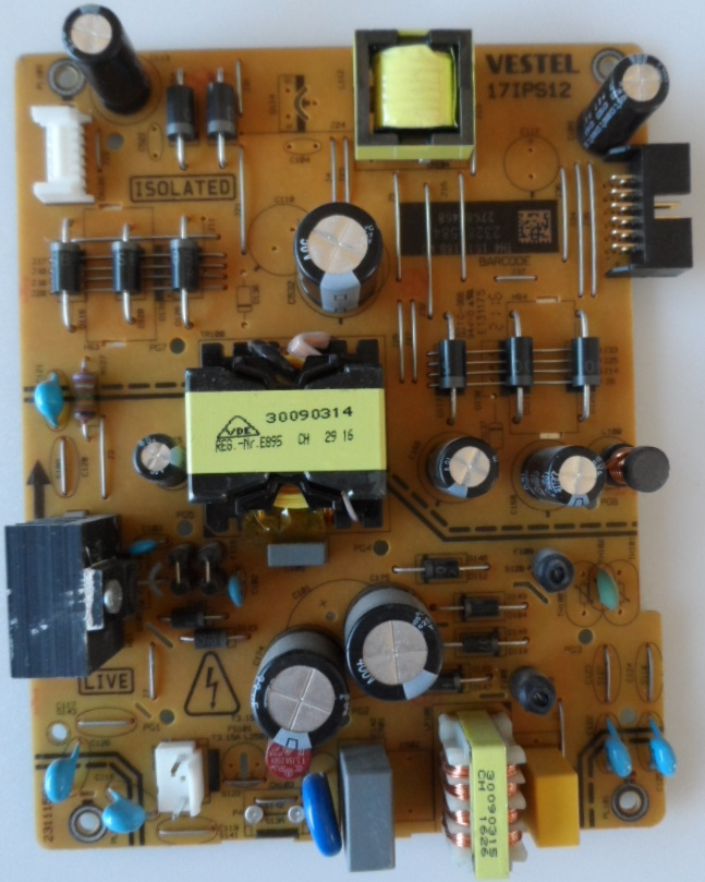 17IPS12/43INC/JVC POWER BOARD ,17IPS12, for 43 inc DISPLAY ,23281584,27680468,231115R3,