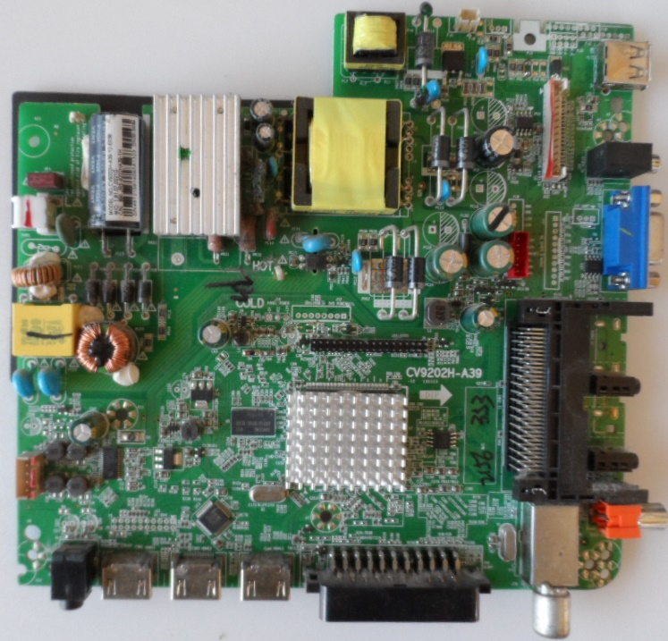 MB/CV9202H-A39/AR/2916 MAIN BOARD ,CV9202H-A39 , for ,ARIELLI LED2916HD,