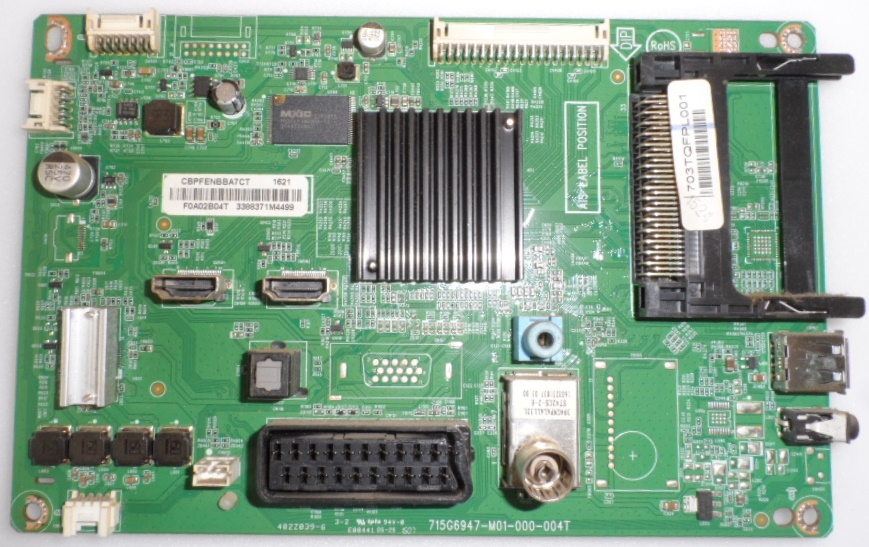 MB/32INC/PH/32PHH4100 MAIN BOARD ,715G6947-M01-000-004T, for, PHILIPS 32PHH4100/88,