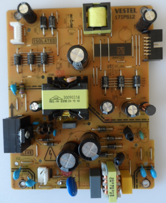 17IPS12/40INC/JVC POWER BOARD ,17IPS12, for 40inc DISPLAY ,28213679,23321125,231115R3,