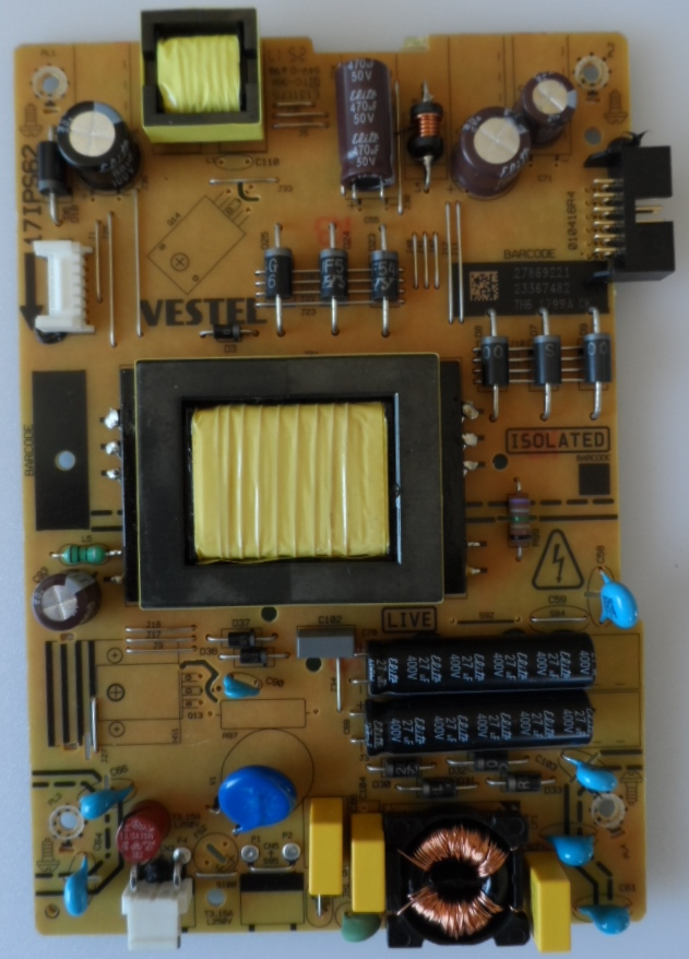 17IPS62/32INC/FINLUX POWER BOARD ,17IPS62, for 32 inc DISPLAY ,27869221,23367485,010416R4,