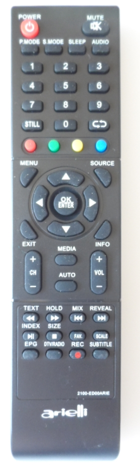 RC/ARIELLI/32DN9T2 ORIGINAL REMOTE CONTROL,2100-ED00ARI,  for ,ARIELLI LED 32DN9T2,