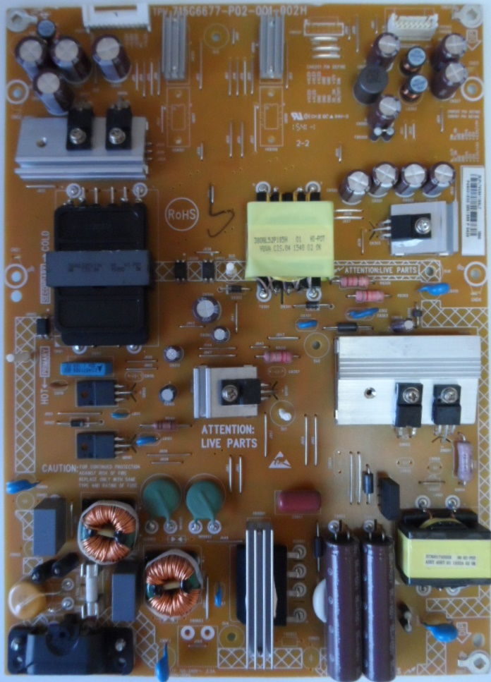 PB/48INC/PH/48PFT5500 POWER BOARD ,715G6677-P02-001-002H,for PHILIPS 48PFT5500/12