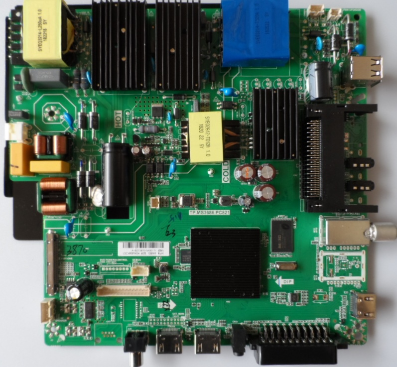 MB/TP.MS3686.PC821/VONINO MAIN BOARD ,TP.MS.3686.PC821 ,for VONINO LE-5060Z