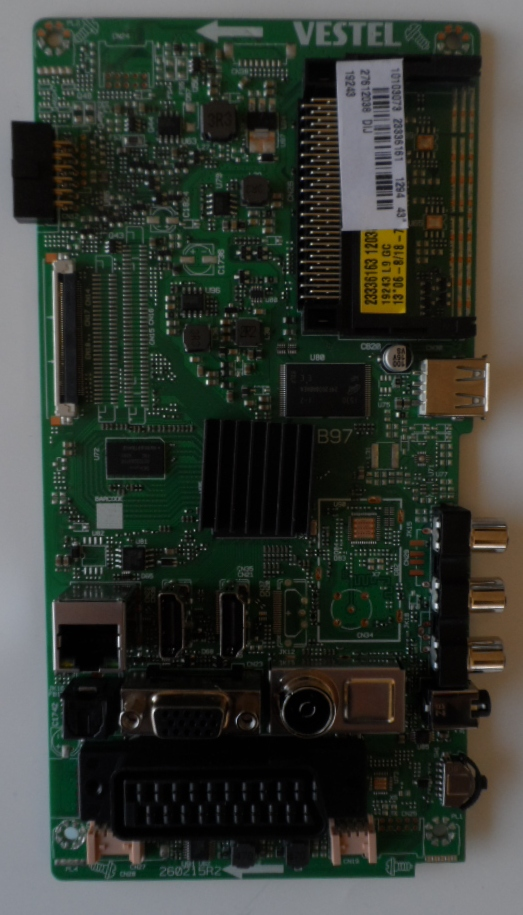 17MB97/48INC/FIN/48FFB5000 MAIN BOARD ,17MB97 , for ,FINLUX ,48FF5000, 10109542,23420499,27788714,