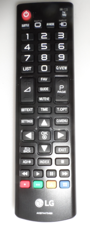 RC/LG/AKB74475480 ORIGINAL REMOTE CONTROL, AKB74475480, for LG LED TV