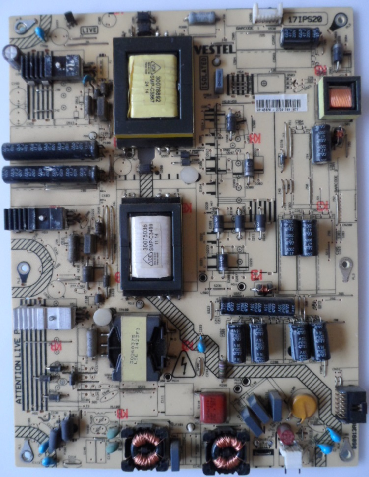 17IPS20/42INC/FINLUX POWER BOARD ,17IPS20, for 42 inc DISPLAY, 23145828,27241789,090913R6,