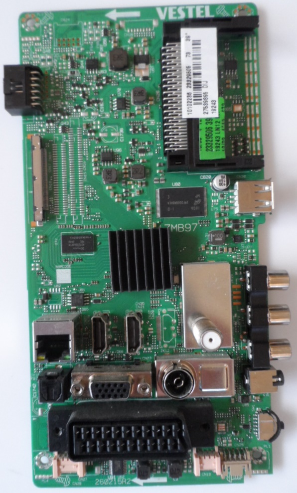 17MB94/39INC/TFK MAIN BOARD ,17MB97 , for 39 inc DISPLAY ,10102236,23329505,27539895,