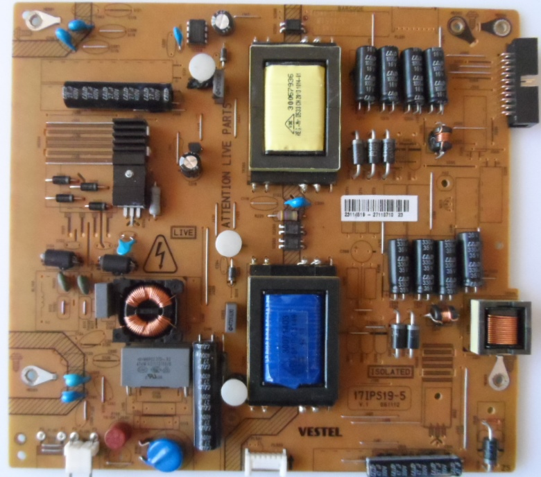 17IPS19-5/32INC/VES/20PIN/2 POWER BOARD ,17IPS19-5,V.1 061112 for 32inc DISPLAY ,23114519,27110710,