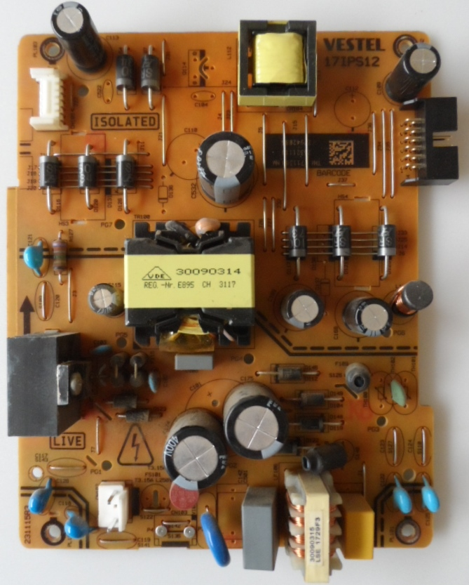 17IPS12/48INC/TOSH POWER BOARD ,17IPS12, for 48inc DISPLAY  ,23321119,27942083,231115R3,