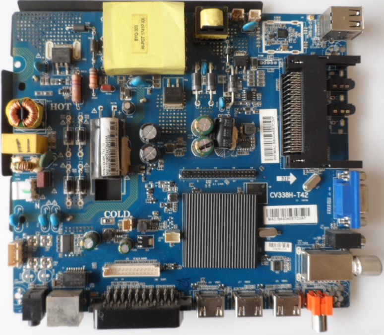 MB/CV338H-T42/ST/40DM6500 MAIN BOARD ,CV338H-T42 , for ,STARLIGHT,40DM6500,