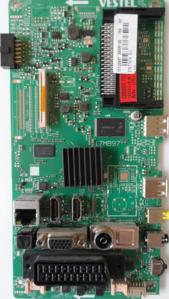 17MB97/32INC/BUSH MAIN BOARD ,17MB97,  for 32 inc DISPLAY,10102487,23329129,27577374,260215R2,