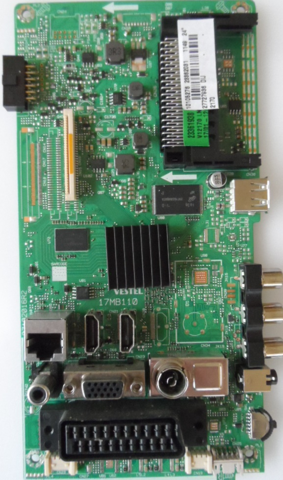 17MB110/24INC/JVC MAIN BOARD ,17MB110,  for 24 inc DISPLAY ,101052765,23362081,27727936,0710201R2,