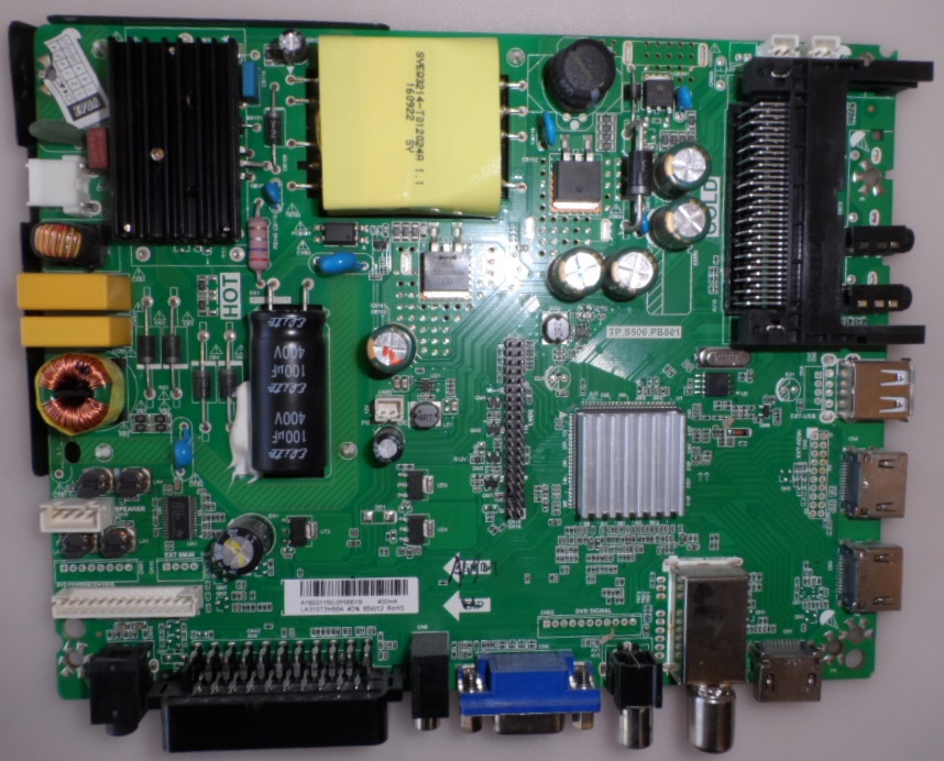 MB/TP.S506.PB801/32K600 MAIN BOARD TP.S506.PB801  for ,CROWN, 32K600,
