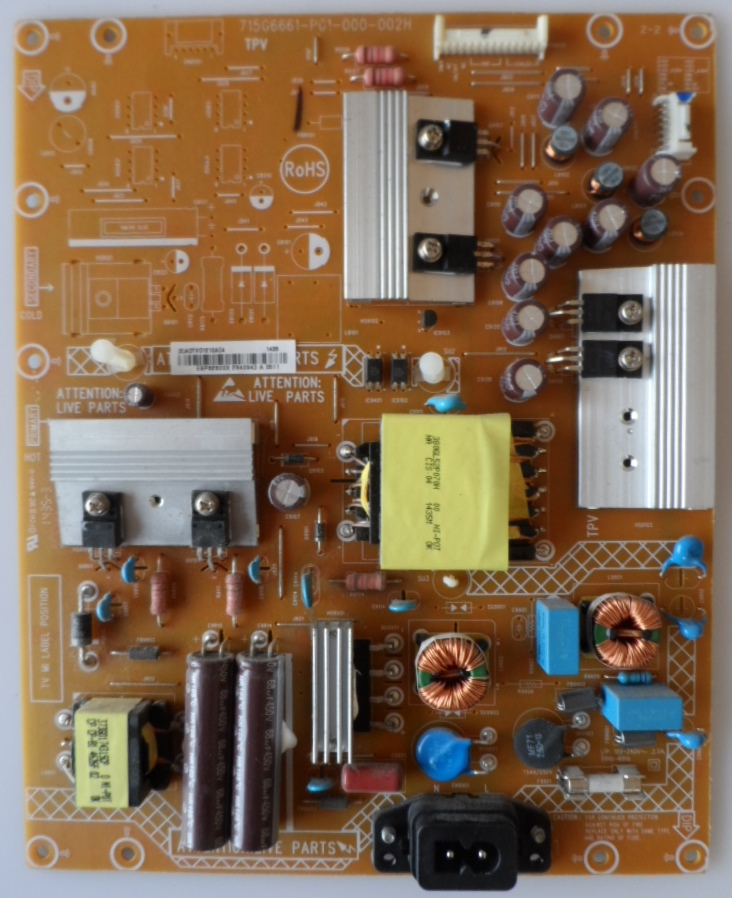 PB/40INC/PH40PUS6809 POWER BOARD ,715G6661-P01-000-002H, for, PHILIPS 40PUS6809/12,