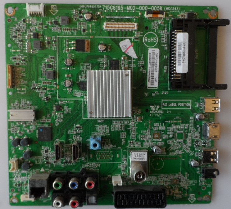 MB/42INC/PH/42PFH6309 MAIN BOARD ,715G6165-M02-000-005K ,for PHILIPS ,42PFH6309/88,