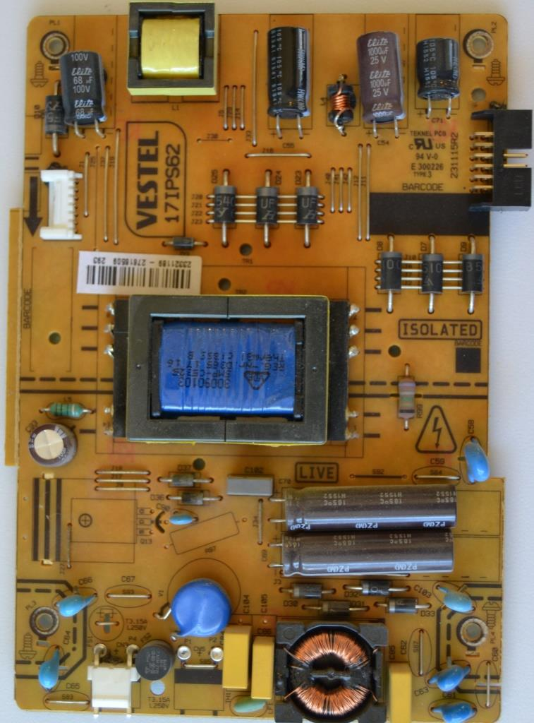 17IPS62/32INC/CROWN/32202 POWER BOARD ,17IPS62, for 32 inc DISPLAY ,23321189,27616509,231115R2,