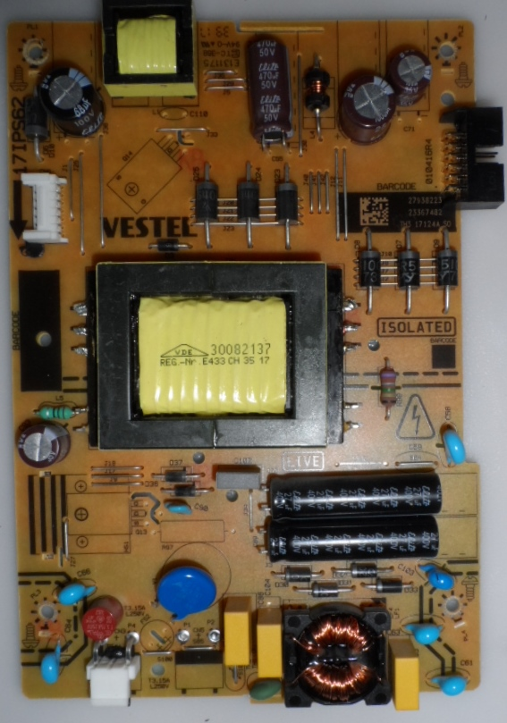 17IPS62/32INC/VES/TOSH POWER BOARD ,17IPS62, for 32 inc DISPLAY, 27938223,23367482,27968824,