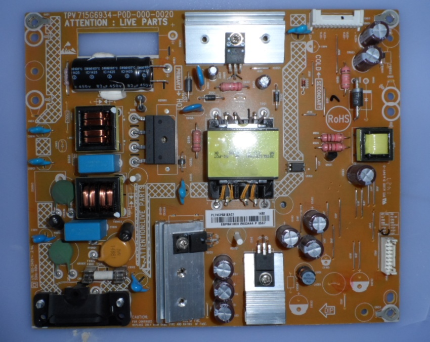 PB/40INC/PH/40PFK4009 POWER BOARD, 715G6934-P0D-000-0020, for, PHILIPS 40PFHK4009/12