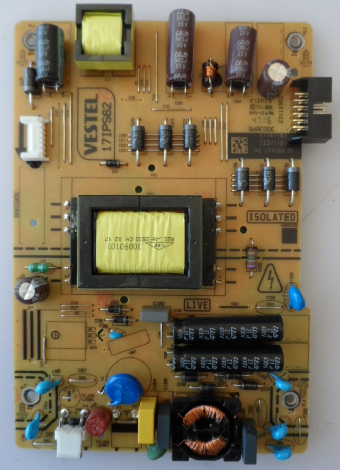 17IPS62/32INC/JVC/1 POWER BOARD ,17IPS62, for 32 inc DISPLAY ,27787282,23321189,231115R2,