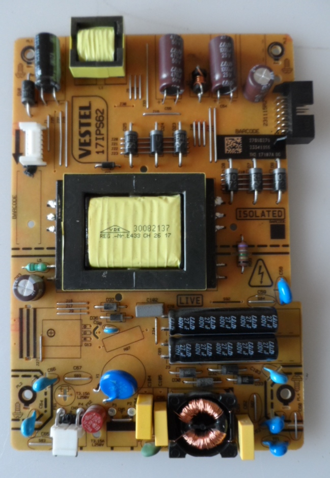 17IPS62/32INC/CROWN/32291 POWER BOARD ,17IPS62, for 32 inc DISPLAY ,27917167,23341166,TH2 17117A DG,23115R2,